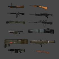 unity3d FPS枪支包FPS Guns 12 Pack  This pack includes