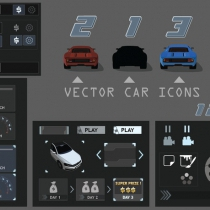 unity赛车游戏全套UI Advanced Racing UI