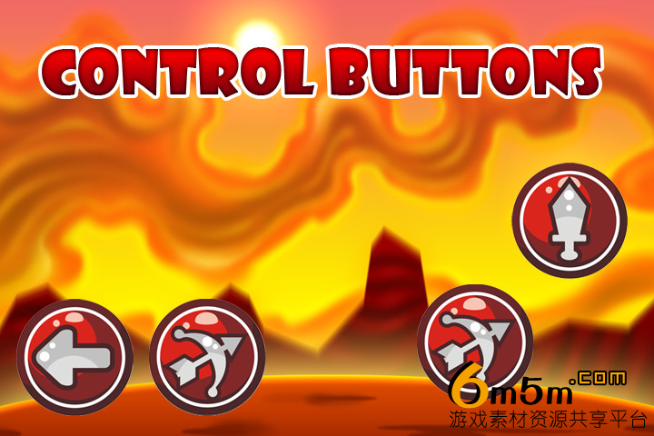unity手机游戏按钮图标2D Buttons Pack2