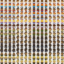 2D儿童四方向行走素材Character Sprites - Human Pack 1