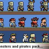 unity怪物与海盗Monsters and Pirates Pixel Art Pack v1