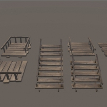 unity楼梯和地板Stairs and Floor Wood Pack 1.0