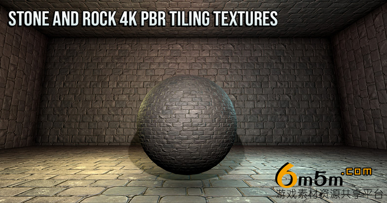 unity岩石材质贴图Stone and Rock 4K PBR Tiling Textures