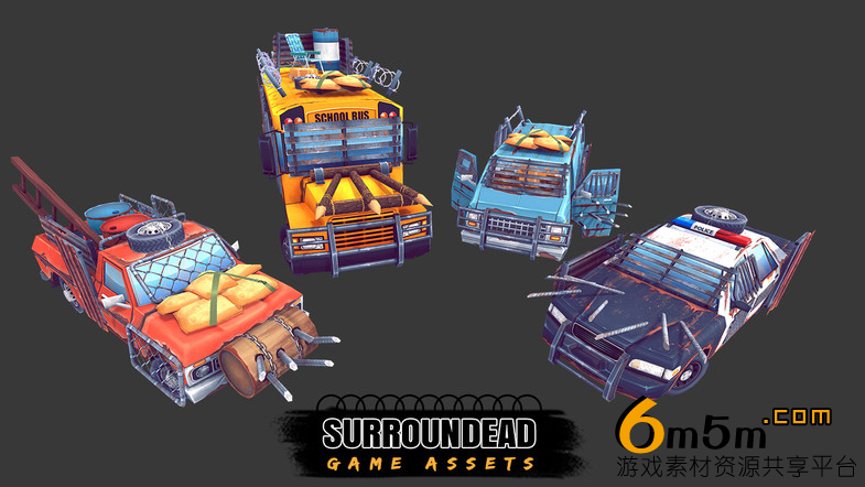 unity生存类游戏场景SurrounDead - Survival Game Assets 3.3
