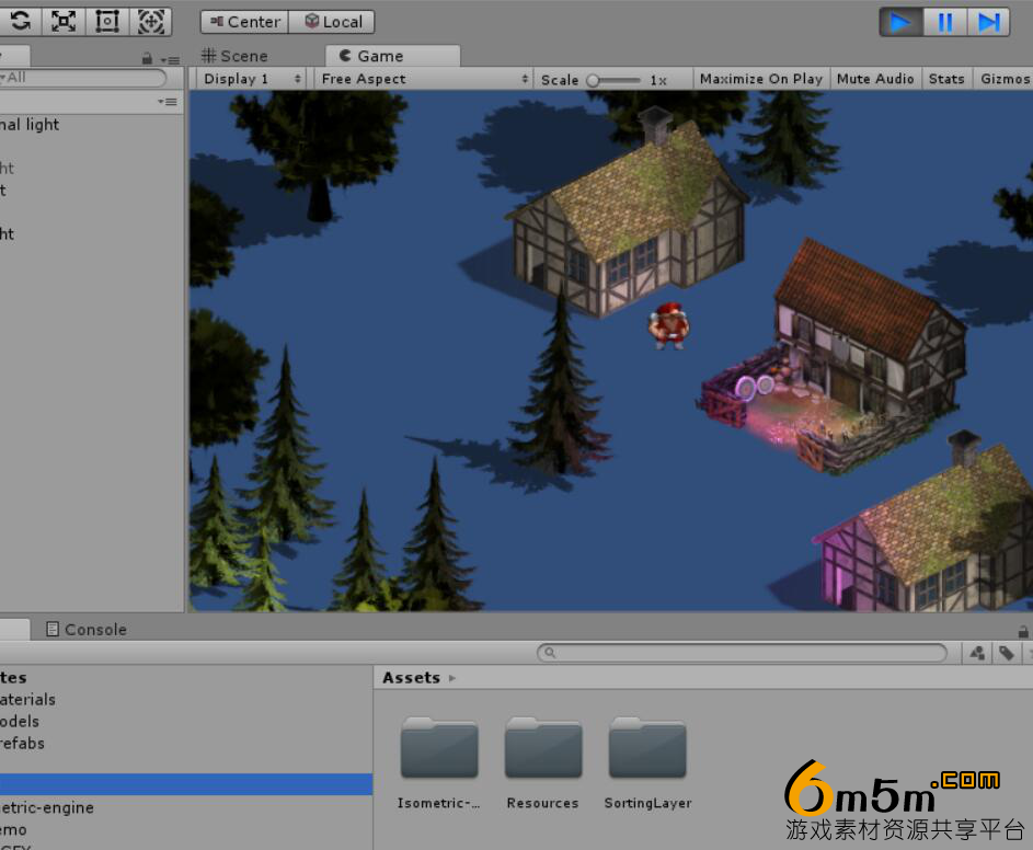 unity 2.5D游戏引擎2.5D Isometric engine