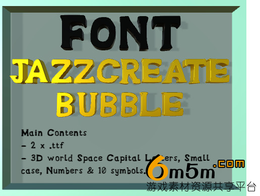 unity字体资源包Bubble Font(Full Version) 1.0