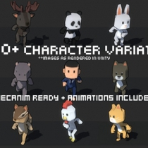 unity 1000+人物角色资源包1000+ Character Pack 1.0