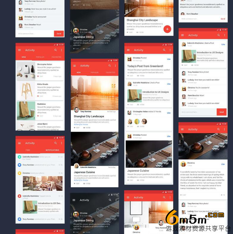 android APP模板Material Design Templates