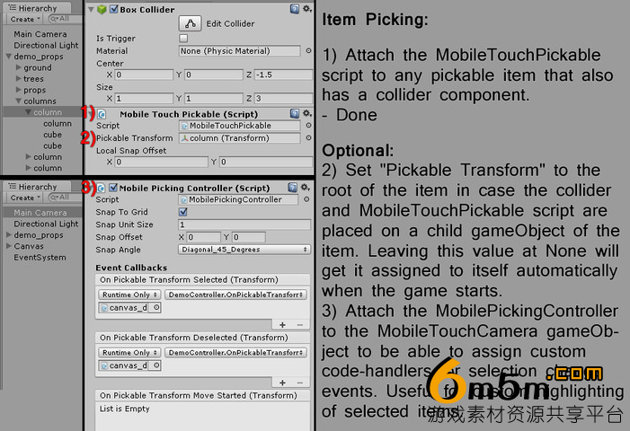 unity触控手势系统Mobile Touch Camera 1.9