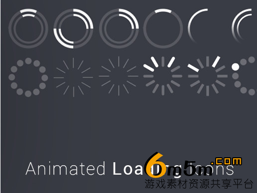 unity加载动画图标Animated Loading Icons 1.0