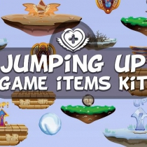 2D跳跃游戏悬浮地面素材包JUMPING UP GAME ITEMS