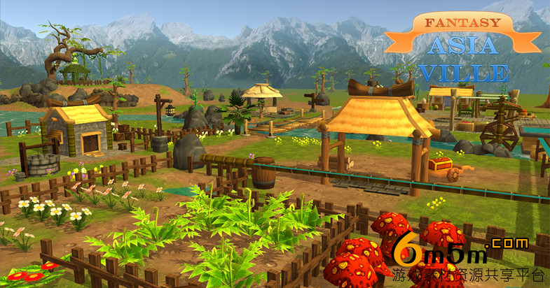 unity农场场景模型Fantasy Ville for RPG, MMO, MOBA 1.0