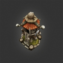 unity低边塔楼防御塔模型Low Poly RTS Orc Tower 1.0