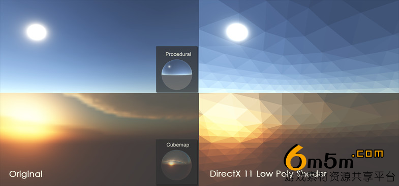 unity低多边形转换着色器DirectX 11 Low Poly Shader 2018.3