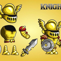 2D幻想风RPG角色骑士游戏素材2D FANTASY KNIGHT CHARACTER SPRITE